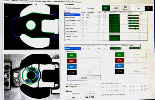 Mecanizado vision artificial Indecober